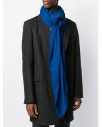 Écharpe en maille fine à bords frangés Faliero Sarti pour homme en coloris Blue