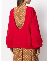 Sudadera con logo bordado MSGM de color Red