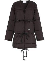 Chaqueta acolchada con diseño de chaleco salvavidas con cuello en V Ambush de color Black