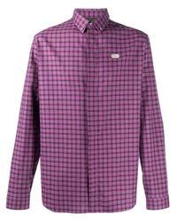 Рубашка С Длинными Рукавами И Логотипом Philipp Plein для него, цвет: Purple