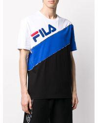 T-shirt con design color-block di Fila in Blue da Uomo