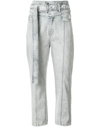 Haculla Blue Cropped High Waisted Jeans