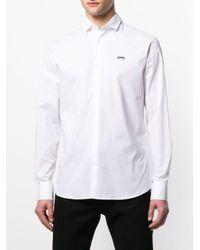Philipp Plein Shirt Met Doodskop Print in het White voor heren