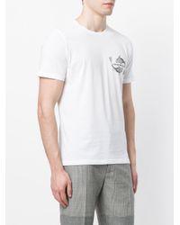 Emporio Armani   White Mixed-print T-shirt for Men   Lyst