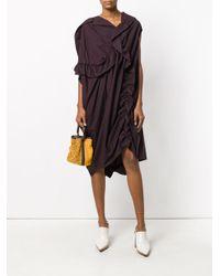 Marni - Red Draped Asymmetric Dress - Lyst