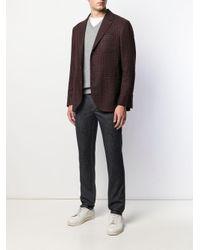 Pull à col v Brunello Cucinelli pour homme en coloris Gray