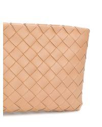 Bolso de mano de tejido intrecciato Bottega Veneta de color Multicolor