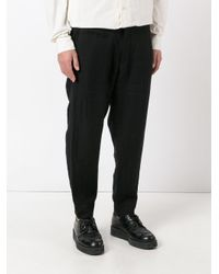 Ziggy Chen Black Loose Fit Tailored Pants for men
