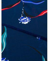 Paul Smith Blue Floral Scarf