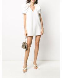 Styland White Feather-embellished Mini Dress