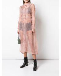 Renli Su ロングスリーブ シャツドレス Pink