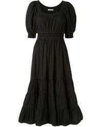Ulla Johnson Black Juniper Puff-sleeve Dress