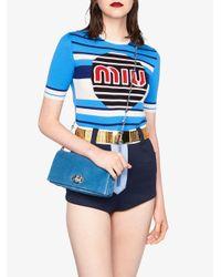 Miu Miu クリスタル バッグ Blue