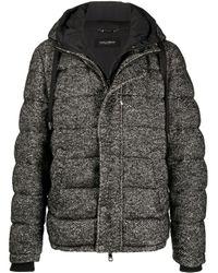 メンズ Dolce & Gabbana フーデッド パデッドジャケット Black