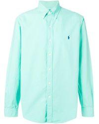 Camisa con botones Ralph Lauren de hombre de color Green
