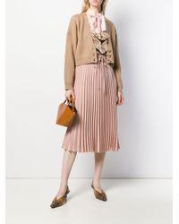 Valentino プリーツ ミディスカート Pink