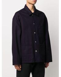 Veste boutonnée à poches plaquées Maison Margiela pour homme en coloris Blue