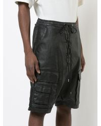 Army Of Me - Black Waxed Cargo Shorts for Men - Lyst