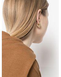 Серьги-кольца Jil Sander, цвет: Metallic