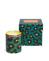 LaDoubleJ Flower Leopard キャンドル Green