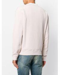 Saint Laurent Pink Logo Patch Sweatshirt for men