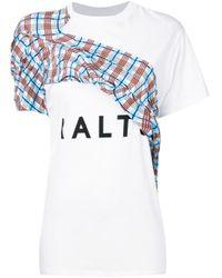AALTO White Logo Contrast T-shirt