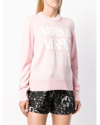 Versus  Pink Logo Long-sleeve Sweater