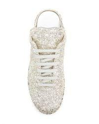 Maison Margiela Metallic Glitter Slip-on Sneakers