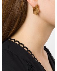 Chloé - Metallic Spiked Hoop Earrings - Lyst