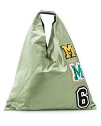 MM6 by Maison Martin Margiela Green 'Japanese' Shopper