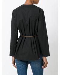 Fabiana Filippi Black Belted Wrap Shirt