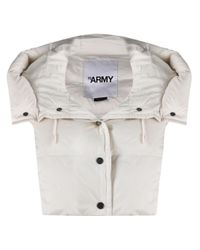 Army by Yves Salomon White Hooded Puffer Overlay