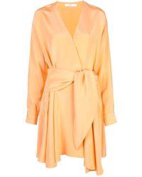 Robe courte à design cache-cœur Tibi en coloris Orange