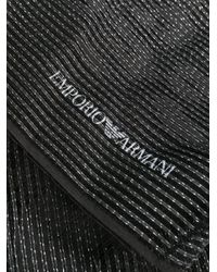 Emporio Armani バイカラー スカーフ Black