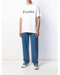 メンズ Etudes Studio ロゴ Tシャツ White