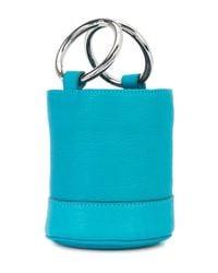 Simon Miller Blue Bonsai Leather Bucket Bag