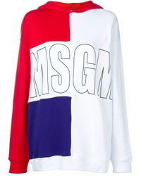 Felpa con design color-block di MSGM in Multicolor