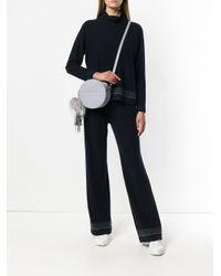 Fabiana Filippi Gray Round Crossbody Bag
