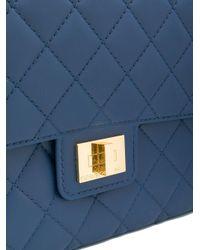 Designinverso - Blue Quilted Shoulder Bag - Lyst