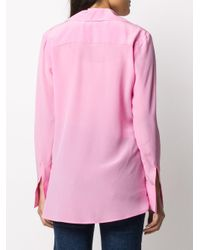 FEDERICA TOSI ラップフロント シルクシャツ Pink
