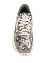 Adidas Falcon プリント スニーカー Gray