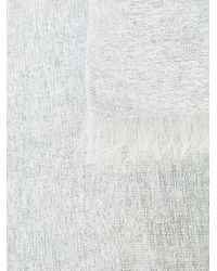Bajra メタリック スカーフ White