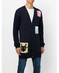 J.W. Anderson - Blue Multi Patched Cardigan for Men - Lyst