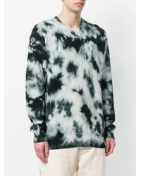 Stussy - Black Tie-dye Ribbed Jumper for Men - Lyst