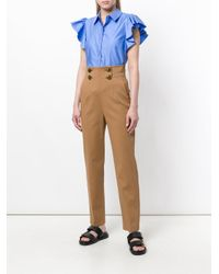 Stella McCartney Blue Ruffle Sleeve Shirt