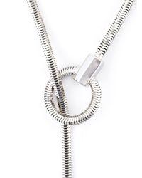 Lara Bohinc - Gray 'schumacher' Loop Necklace - Lyst