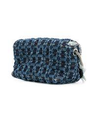 Sonia Rykiel Blue Le Copain Large Laser Denim Bag