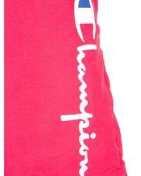 メンズ Champion ロゴ トランクス水着 Pink