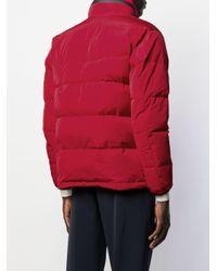 メンズ Aspesi ジップアップ ジャケット Red