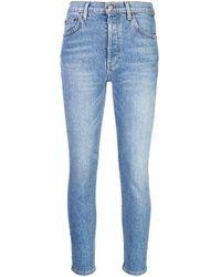 Reformation Blue Serena Skinny Cropped Jeans